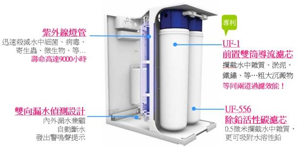 大山淨水 賀眾牌 廚下型 UV紫外線 殺菌淨水器 5001JW-12