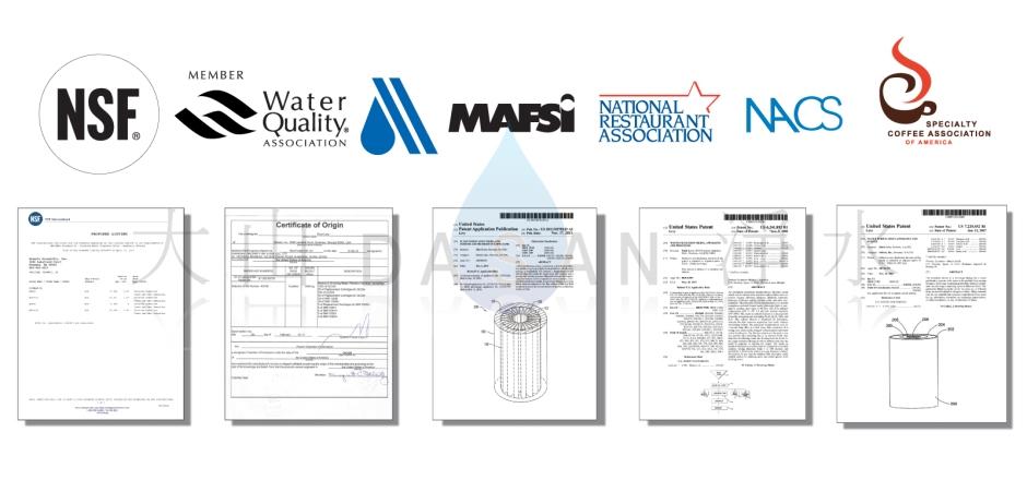 大山淨水美國水樂認證